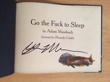 SIGNED by Adam Mansbach - Go the Fuck to Sleep Hardcover Book  + Pic