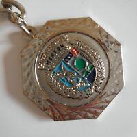 Médaille porte-clés Ville Menton French Riviera métal collection France N5228