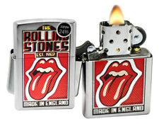 Zippo 29127 Rolling Stones Satin Chrome Finish Windproof Pocket Lighter New