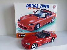 BURAGO KIT METAL 1/18 N° 7025- DODGE VIPER RT/10 1992 Montée + Boite
