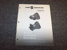 Sauer Sundstrand Series 51 Bent Axis Variable Motors Shop Service Repair Manual