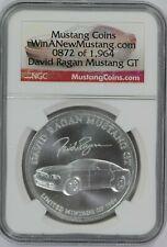 Mustang Coins NGC David Ragan Mustang GT 1 oz 999 Fine Silver WinaNewMustang