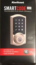 Kwikset SmartCode 915 Touchscreen Electronic Deadbolt 99150-002 Satin Nickel