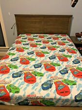 Vintage Nascar Racers Bedding Full Size 2 Pieces Flat and Fitted Sheet