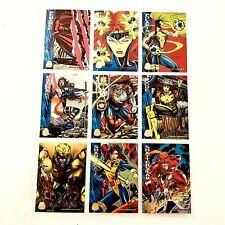 Marvel Cards Power Ratings   1994 Fleer Full Set Of 9 #109 - #117  Mint Group