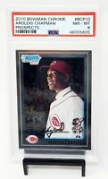 2010 Bowman Chrome Yankees AROLDIS CHAPMAN Rookie Baseball Card PSA 8 NM-MINT