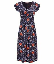 Stretch Viscose Jersey Empire Line Shift Dress with Tie Detail size 10