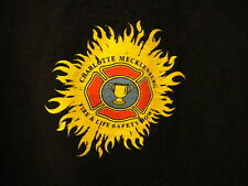 Charoltte NC Mecklenburg Fire Dept Life & Safety Bowl T Shirt 2XL Black