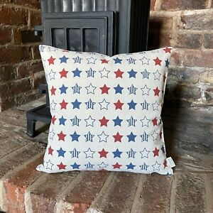 11. STARS Natural  LINEN Cotton Cushion Cover.Various sizes