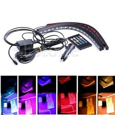 Car Interior Light Strip 8 Color LED Glow Under Dash Footwell Lighting 4pcs Kit