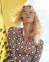Tory Burch Hicks Pink Octogon Print Surf Shirt Rashguard M NWT 6 8