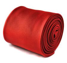 Frederick Thomas Rojo Liso hecho a mano Corbata Hombre Boda ft1625