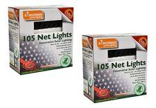 210 SOLAR POWER LED NET LIGHT DECORATIVE WHITE FAIRY GARDEN OUTDOOR PARTY XMAS