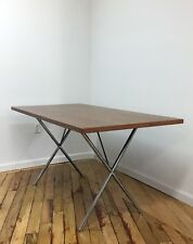George Nelson for Herman MillerX-Leg Table 30 x 60 Walnut Veneer Great Condition