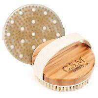 Bath & Shower Body Massage Spa Scrubber Brush Wet/Dry Skin Exfoliating Bristles