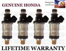 Genuine Honda Set Of 4 Fuel Injectors for Honda Del Sol Civic D16Z6 D15B