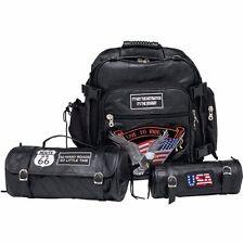 3Pc Sissy Bar Barrel and Tool Bag Set -FOR HONDA SHADOW SABRE ACE 1100 750 BIKES