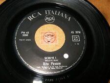 RITA PAVONE - SCRIVI - TI VORREI PARLARE  / LISTEN - TEEN POPCORN ITALIAN