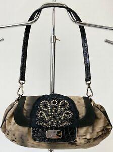 Prada Nylon Rhinestones Detail Shoulder Hobo Bag Rare