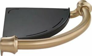 Delta 41316-CZ Traditional Corner Shelf w/ Bath Assist Bar Champagne Bronze
