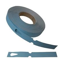 Metal Detectable Keyhole Tags Blue 25x190mm Roll 500