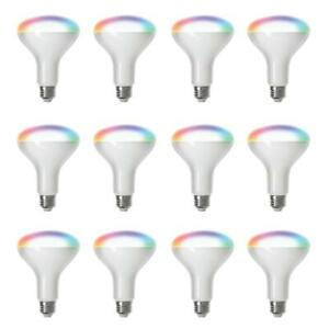 65-Watt Equivalent BR30 Dimmable Full Color Changing Wi-Fi LED Smart Light Bulb