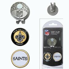 New Orleans Saints NFL Team Golf Cap Clip with 2 Magnetic Enamel Ball Markers
