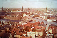 Fototeca dialux Danmark Slide Negative - View Over The City Copenhagen, Denmark