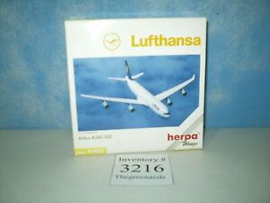 New Herba Wings Airbus A340-300 Art. -Nr. 560344 Scale 1:400 Lufthansa