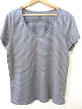 NEW Toad and Co Sz XL Grey Stripe Top Organic Cotton Eco Ethical Casual Stretch