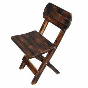 Natural Wooden Foldable Pleasing Chair Space Saver Chair For Home Cafe Garden