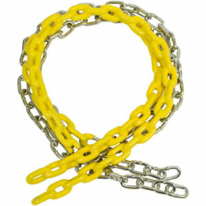 1.7m long half coated chains for swings with safety hooks