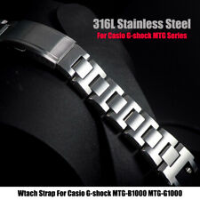 316L Stainless Steels Watch Band For G-shock MTG-B1000 MTG-G1000 Watch Bracelet