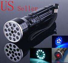 New 15 LED+UV+LASER Ultraviolet Flashlight Light Torch