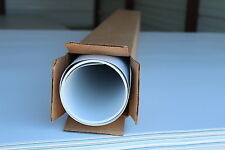 ".010"" THICK WHITE POLYSTYRENE PLASTIC SHEET 32-1/2"" x 6' 4"" (17.15 sq ft)"