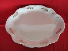 Homer Laughlin The Angelus 15 inch Serving Platter Gold Trim and Floral