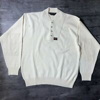 Paul & Shark Yachting Sweater Elbow Patch Wool Blend Pullover Mens Large