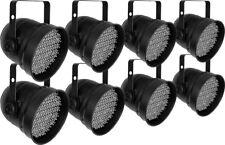 8 x Showtec LED Par 56 kurz Eco Schwarz