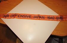 rst108 WW 2 US Army Flag Streamer Air Offensive Japan 1942 - 1945