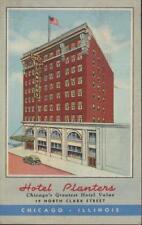 Chicago Illinois HOTEL PLANTERS  North Clark Street Vintage Linen PC Rare