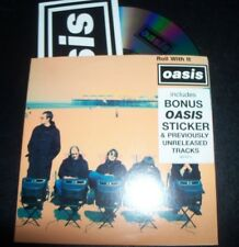 Oasis Roll With It Rare Australian Card Sleeve 4 Track CD Single With Sticker
