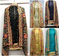 Suit Salwar Kameez Pakistani Indian Shalwar Casual Dress Cotton Designer Black