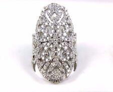 Long Round Diamond Diamond Tall Filigree Cluster Ring Band 14k Rose Gold 3.84Ct
