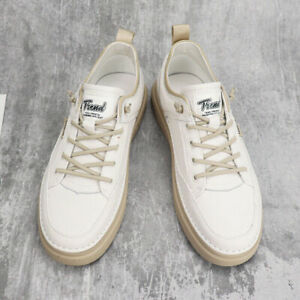 Fashion Artificial Leather Men Casual Shoes with Round Toe Sneakers Oversize New