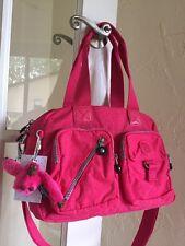 Kipling Defea Handbag Vibrant Pink Convertible Crossbody
