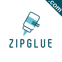 ZIPGLUE.com Catchy Short Website Name Brandable Premium Domain Name for Sale