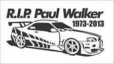 RIP Paul Walker  Car Truck Window Vinyl Sticker Decal JDM Skyline R34 GTR Drift