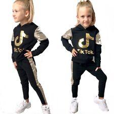 Tik Tok tuta da bambina felpa pantaloni con paillettes dorate
