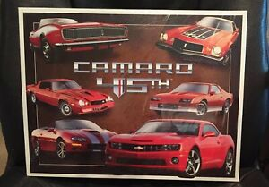 Chevy Chevrolet Camaro 45th Anniversary Metal Tin Sign Garage Home Wall Decor