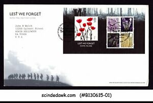 GREAT BRITAIN - 2009 LEST WE FORGET / THE POPPIES SHOW / FLOWER - MIN/SHT FDC